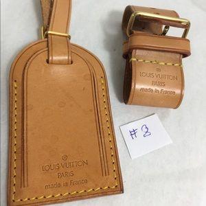 Louis Vuitton large Name tag set